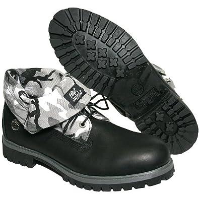 Timberland Mens Work Boots Size 11 M 27545 Rll Top Camo Black Nubuck