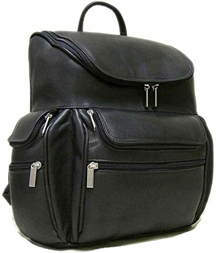 B0037P81P6 Le Donne Leather Computer Back Pack – Black