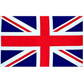 British Union Jack (UK Great Britain) Country Flag: 3x5ft poly