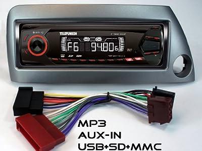 RDS-AUTORADIO für Ford KA mit UKW, MP3/WMA-USB+SD+MMC+AUX-IN; Volldigital; 160 Watt