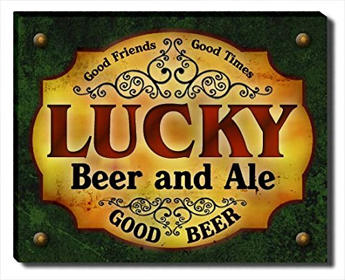 lucky-beer-ale-stretched-canvas-print