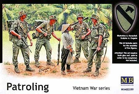1/35 米・第一空挺騎兵師団4体 + 民間女性1体 ベトナム戦