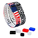DigiHero 2 pcs Small Size Wristbands Replacement Band With Clasps for Fitbit FLEX Only /No tracker/ Wireless Activity Bracelet Sport Wristband Fitbit Flex Bracelet Replacement Arm Band Armband