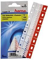 Hama 03755 Accessoire pour appareil photo Lot de 100 Adhésifs Super 8 avec échancrure pour une piste sonore