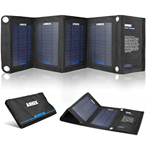 Anker® Solar Panel Foldable Dual-port Solar Charger for 5V USB-charged Devices from Anker
