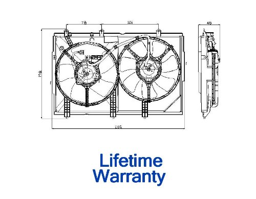 Tyc 622810 Mitsubishi Outlander Replacement A/C Condenser Fan Assembly