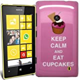 Accessory Master Coque pour Nokia Lumia 520 Motif Keep Calm and Eat Cup Cakes Rose