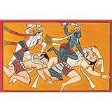 Krishna And Balarama Kill The Wrestlers With The Tusks Of The Elephant Kuvalayapida - Water Color On