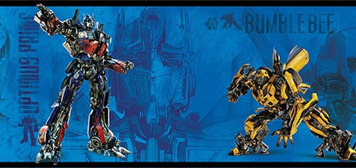 RoomMates RMK1302BCS Transformers II Peel & Stick Border