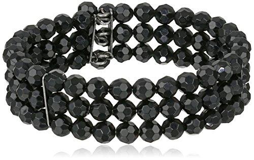 1928-Jewelry-Vintage-Inspired-Jet-Black-Beaded-Bracelet