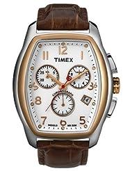 Timex E Class Chronograph White Dial Men's Watch - T2M985