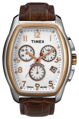 Timex Mens Watch T2M985PA T Series with Brown Leather Strap and Chronograph Display