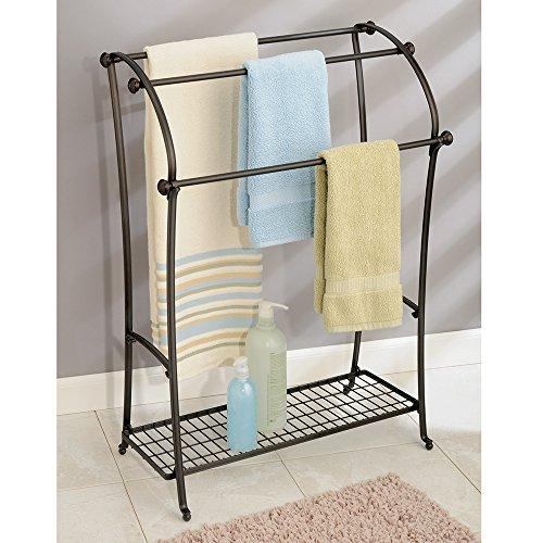 Interdesign york lyra free standing floor towel holder for Interdesign york