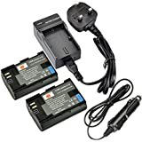 DSTE® 2x LP-E6 LP-E6N Rechargeable Li-ion Battery + DC88U Travel and Car Charger Adapter for Canon EOS 5D Mark II, EOS 5D Mark III, EOS 5DS, EOS 5DS R, EOS 6D, EOS 7D, EOS 60D, EOS 60Da, EOS 70D, 7D markII, 7D markIII Digital Camera