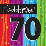 Creative Converting Milestone Celebrations Luncheon Napkins, 16-Count, Celebrate 70