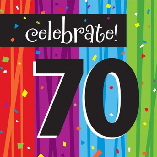 Creative Converting Milestone Celebrations Luncheon Napkins, 16-Count, Celebrate 70