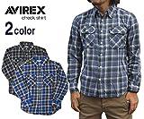 (アビレックス) AVIREX チェックネルシャツ (Lot/6115011) S 84-BLUE