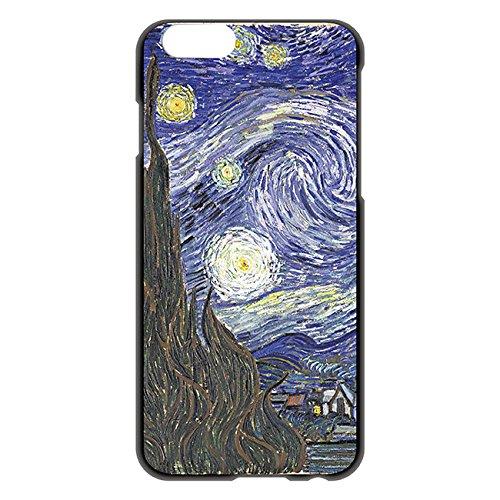 iPhone6/6s 4.7インチ ケース カバー 西洋名画 フィンセント・ファン・ゴッホ 星月夜/ブラック