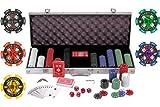 51GTXOBZV9L. SL160  Pokerkoffer / JetonKoffer EURO, 500 Teile, 12g / Chip