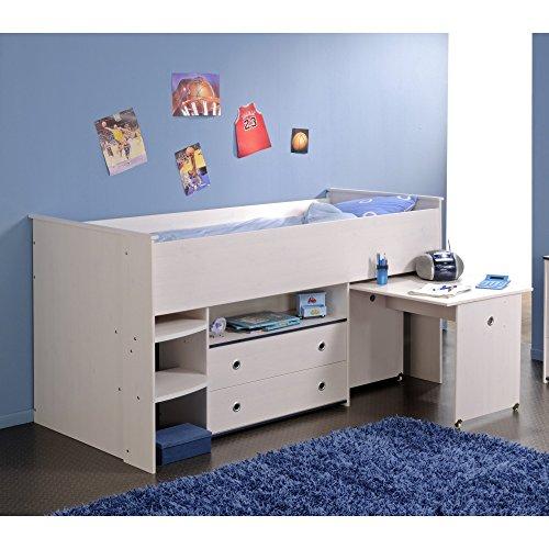 kinderhochbett mit schreibtisch und kleiderschrank com. Black Bedroom Furniture Sets. Home Design Ideas