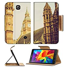 buy Msd Premium Samsung Galaxy Tab 4 7.0 Inch Flip Pu Leather Wallet Case Vintage Looking Big Ben At The Houses Of Parliament Westminster Palace London Uk Image Id 27040869
