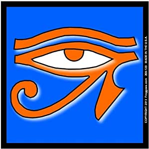 Amazon.com - EYE OF HORUS - ORANGE/BLUE - STICK ON CAR DECAL SIZE 3-1