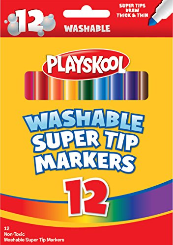 Playskool Washable Slim Markers (12-Count)