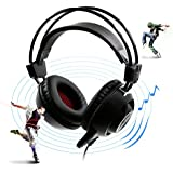 Mictech F35 7.1 Virtual Surround Sound Stereo USB Light & Vibration Gaming Headset Headphone Stereo Gaming LED...