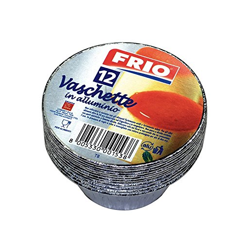 FRIO LOT DE 12 POTS RONDS ALUMINIUM JETABLE 8 CM