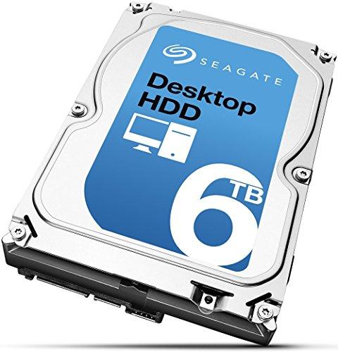 Seagate Desktop ST6000DM001 HDD 6 TB Interne Festplatte ((3,5 Zoll) SATA, 6GB/s, 128 MB Cache)