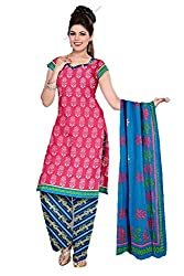 Riddhi Dresses Women's Cotton Unstitched Dress Material (Riddhi Dresses 102_Multi Coloured_Free Size)