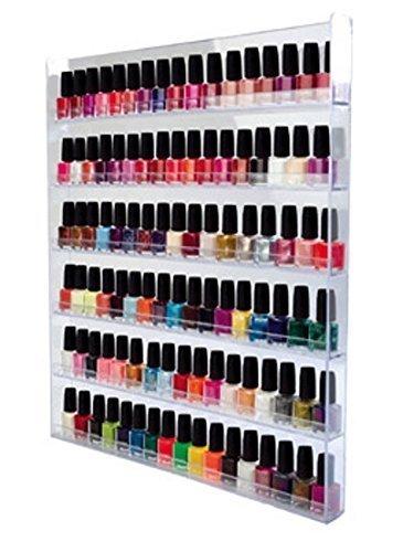 Nagellack-Sammler-Vitrine-Hngevitrine-Glasvitrine-Wand-Regal-Miniflaschen-oder-Sammelfiguren-aus-Acrylglas-XXL-Gro-mit-6-Regalbden