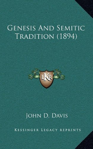Genesis and Semitic Tradition (1894)