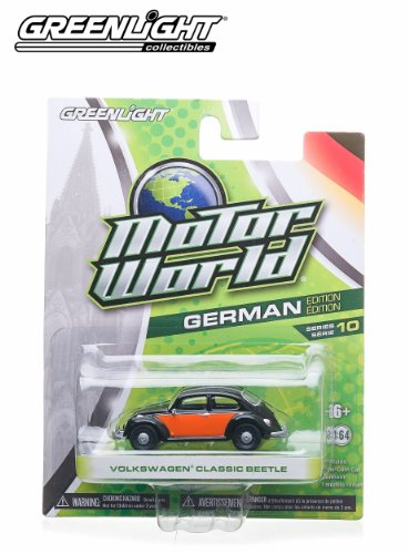Volkswagen Classic Beetle (Black & Orange) * 2014 Motor World * Series 10 German Edition 1:64 Scale Die-Cast Vehicle - 1