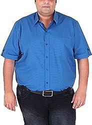 Xmex Men's Cotton Shirt (KR-HSECOSML, Light Blue, XXX-Large)