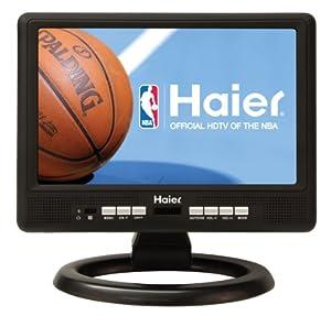 Haier HLT10 10.2-Inch Handheld TV, Black
