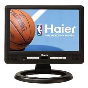 Haier HLT10 10-Inch Handheld TV, Black