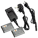 DSTE (2-pack) BP70A Replacement Li-ion Battery + Charger DC97U for Samsung BP-70A, EA-BP70A and Samsung ST30, ST60, ST61, ST65, ST66, ST67, ST70, ST71, ST72, ST76, ST80, ST90, ST93, ST95, ST100, ST150F, ST700, ST6500, SL50, SL600, SL605, SL630, TL105, TL