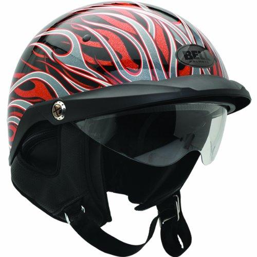Bell Flames Pit Boss Harley Motorcycle Helmet - Black/Orange / X-Large/2X-Large