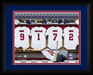 MLB Personalized Locker Room Print Black Frame Customized Minnesota Twins by You