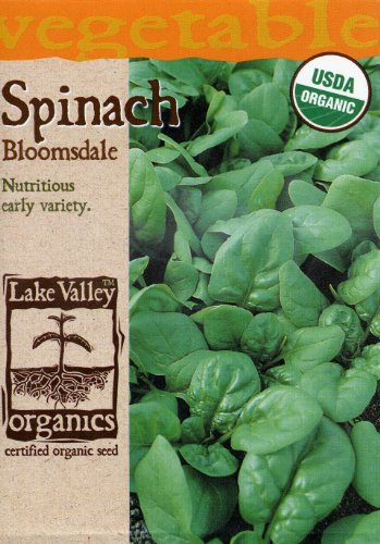 Lake Valley 875 Organic Spinach Bloomsdale Seed Packet