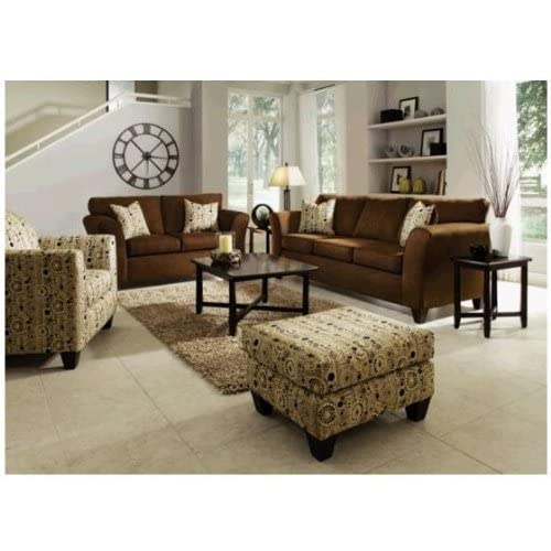 dazzle chocolate 2 pc sofa loveseat package