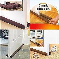Efficient Twin Draft Guard - Door Bottom Energy Saving Under Door Draft Stopper Doorway Clean
