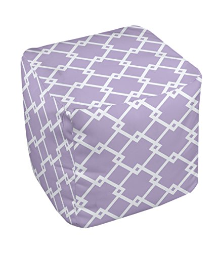 E by design FG-N10C-Lilac_Purple-18 Geometric Pouf