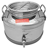 Minox 10-Liter NSF Italian Made Stainless Steel Fusti Container, 2.64-Gallon, Lever Valve