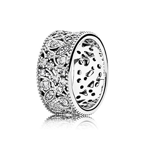PANDORA Shimmering Leaves Ring 190965CZ, Different Sizes Available (6 / 52)