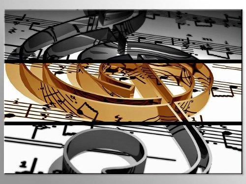 Bilderdepot24 Leinwandbild Musik ist mein Leben III - 70x50cm - fertig gerahmt, direkt vom Hersteller