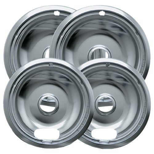 Range Kleen 10124XN Drip Pans 4 Pack Containing 2 Units 101Am and 102Am, Chrome (Range Kleen compare prices)
