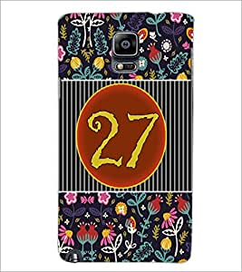 PrintDhaba Numerology Number 27 D-3116 Back Case Cover for SAMSUNG GALAXY NOTE 3 (Multi-Coloured)