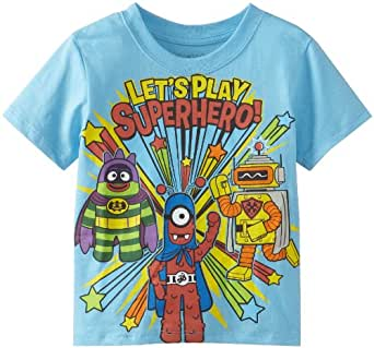 Yo gabba gabba little boys 39 superhero tee Boys superhero t shirts